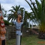 Le statue nel palmeto